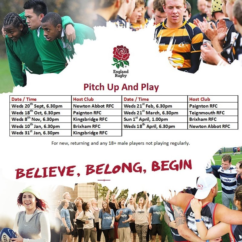 "Newton Abbot ""Pitch up and Play"""