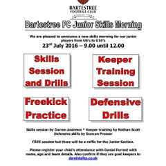 BFC Junior Skills Day - 23rd July