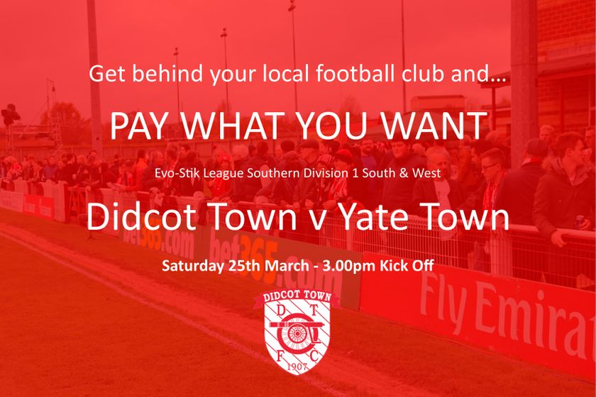 Pay What You Want Day - 25th March