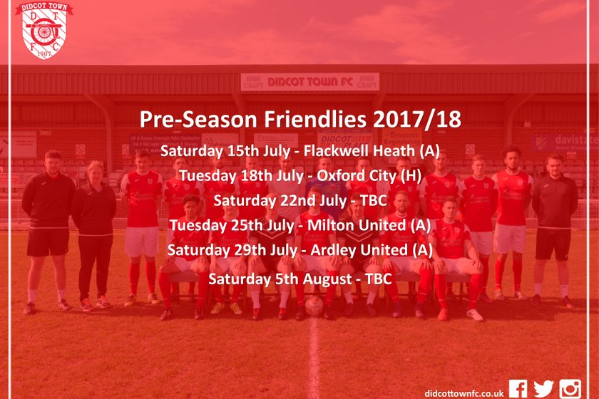 Pre Season Friendlies Announced