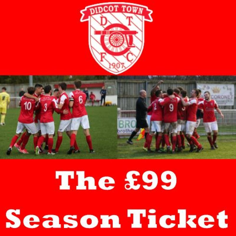 £99 18/19 Season Ticket!