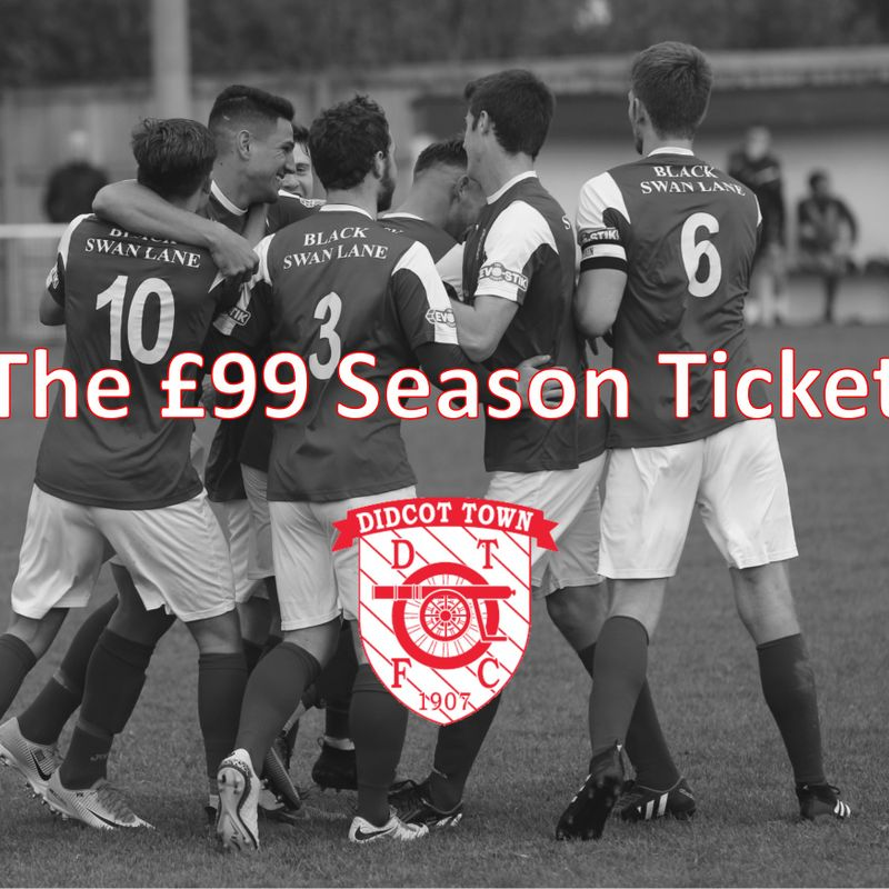 £99 18/19 Season Ticket Update