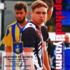 Prog Notes 7 - Heather St John's League Cup -  24.9.2016