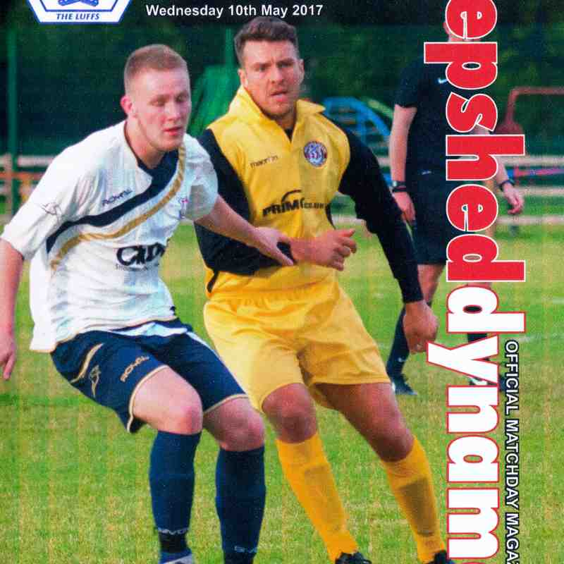 Prog Notes 27 - Loughborough F.C. Loughborough Charity Cup Final -  10.5.2017