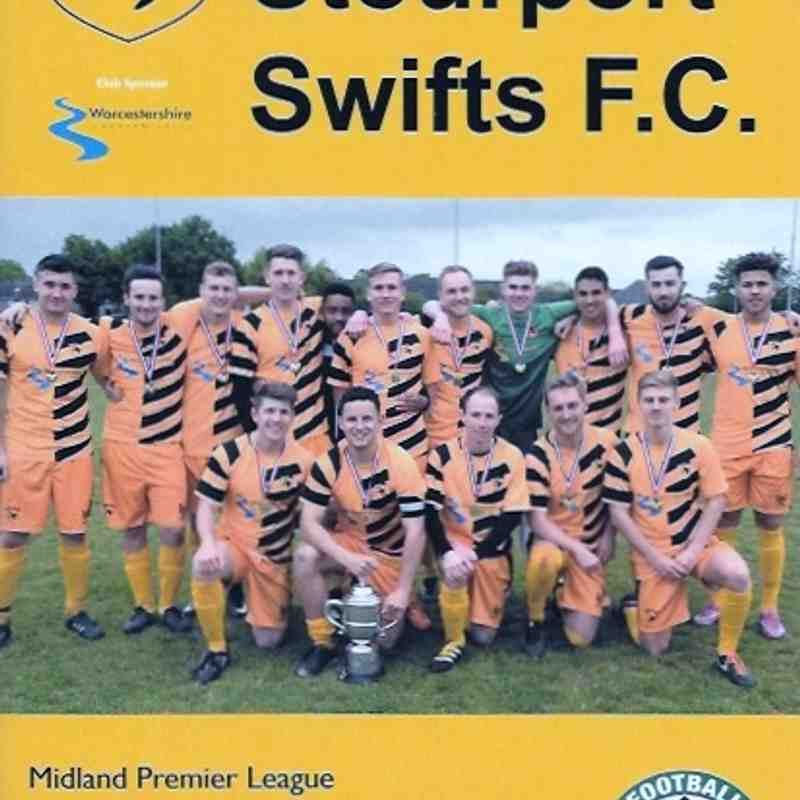 M.F.L. 2017/2018 Stourport Swifts F.C. 9.9.2017