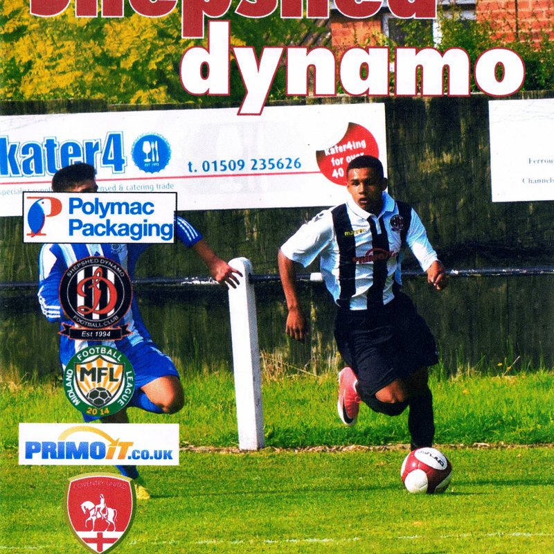 Prog Notes - Coventry United F.C. League Cup 19.9.2017