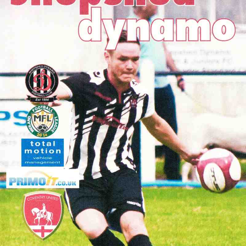 Prog Notes - Coventry United F.C. - Total Motion M.F.L. 3.2.2018