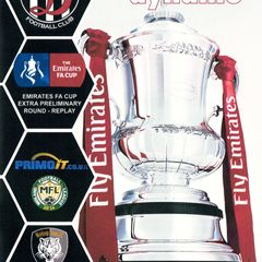 Programme Cover Worksop Town F.C. and Chairman's Notes Plus Team Sheet