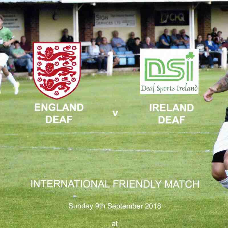 International Friendly Match England Deaf v Ireland Deaf at the Dovecote Photos 9.9.2018