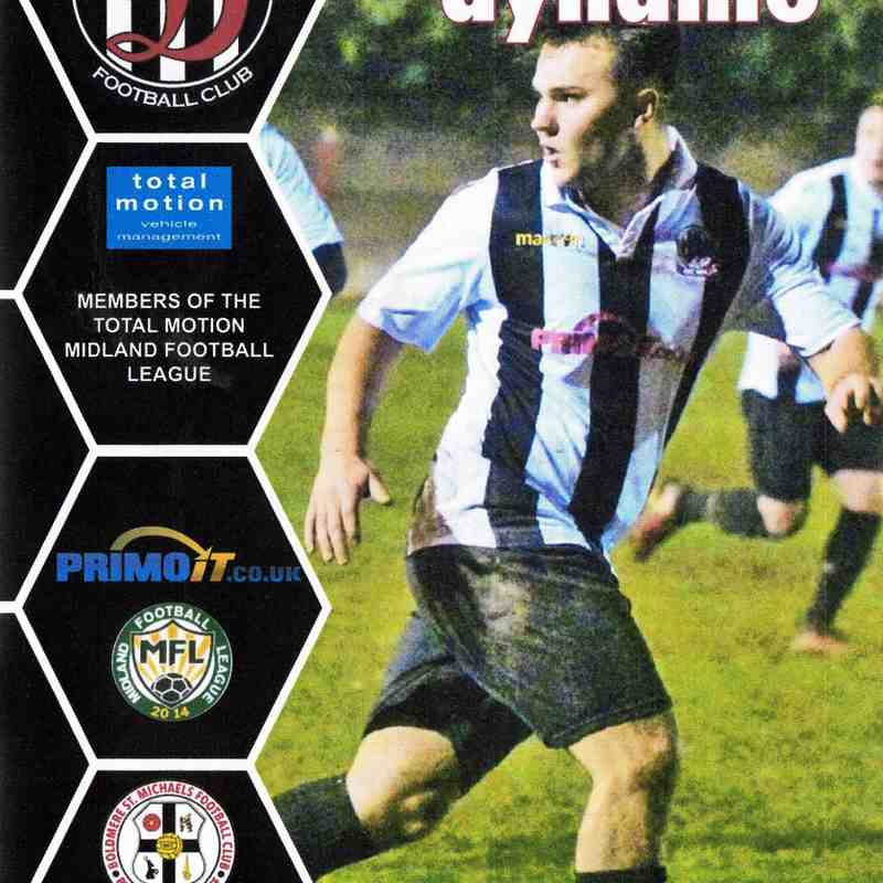 Programme Cover Boldmere St Michaels F.C. and Chairman's Notes Plus Team Sheet 26.12.2018