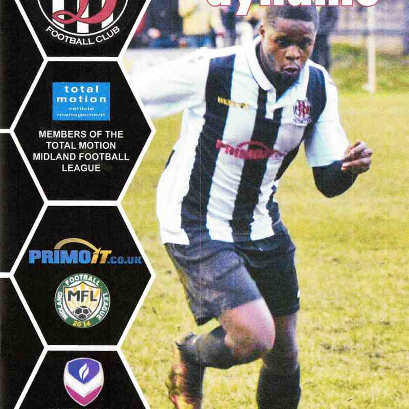 Programme Cover Loughborough University F.C. Original Programme from Postponed Game on 15.12.2018 Team Sheet from Rearranged game on 8.1.2019