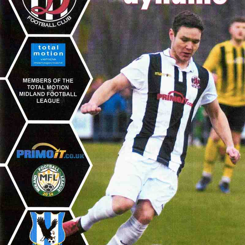 Programme Cover Lye Town F.C.and Chairman's Notes Plus Team Sheet 19.1.2019