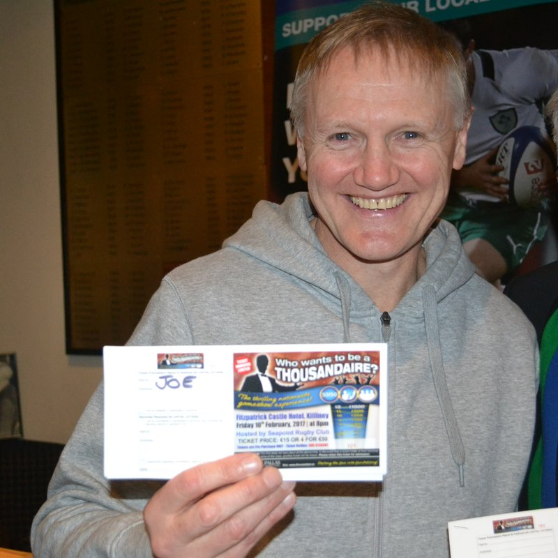 JOE'S GOT HIS TICKET - HAVE YOU????