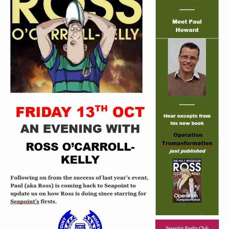 ROSS O'CARROLL-KELLY ~ BACK BY POPULAR DEMAND!!!