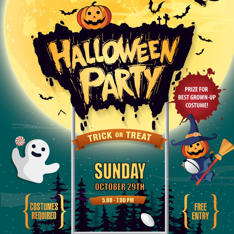 Spooky Kids Halloween Party - Sunday the 29th October 5pm to 7pm