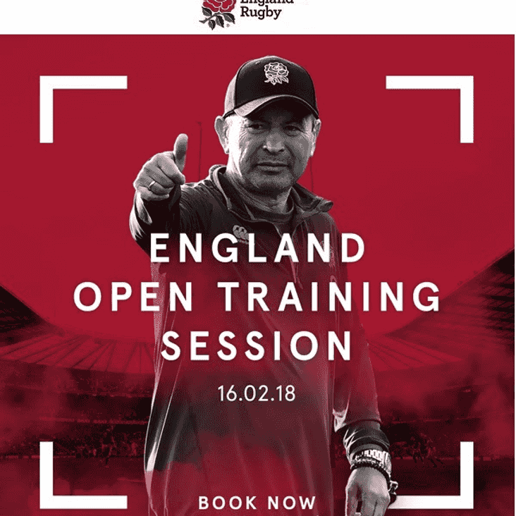 England Open Training Session -  FREE Tickets