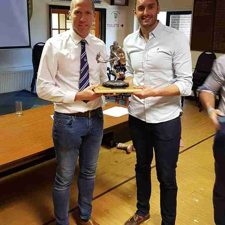 Ray Monelle Trophy For Outstanding Contribution To Weston RFC Junior Rugby