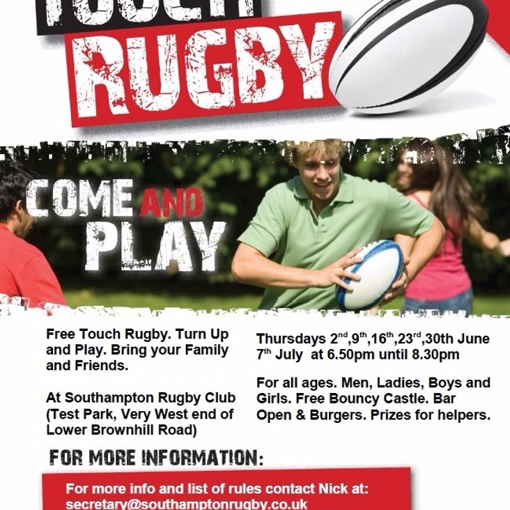SRFC O2 Touch Rugby<