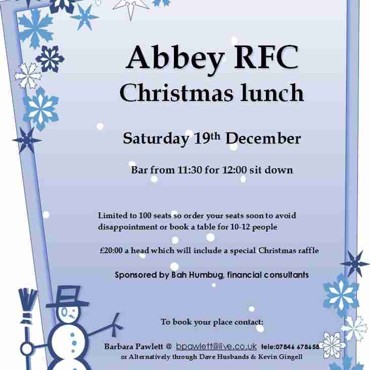 Club Christmas Lunch - Sat Dec 19th