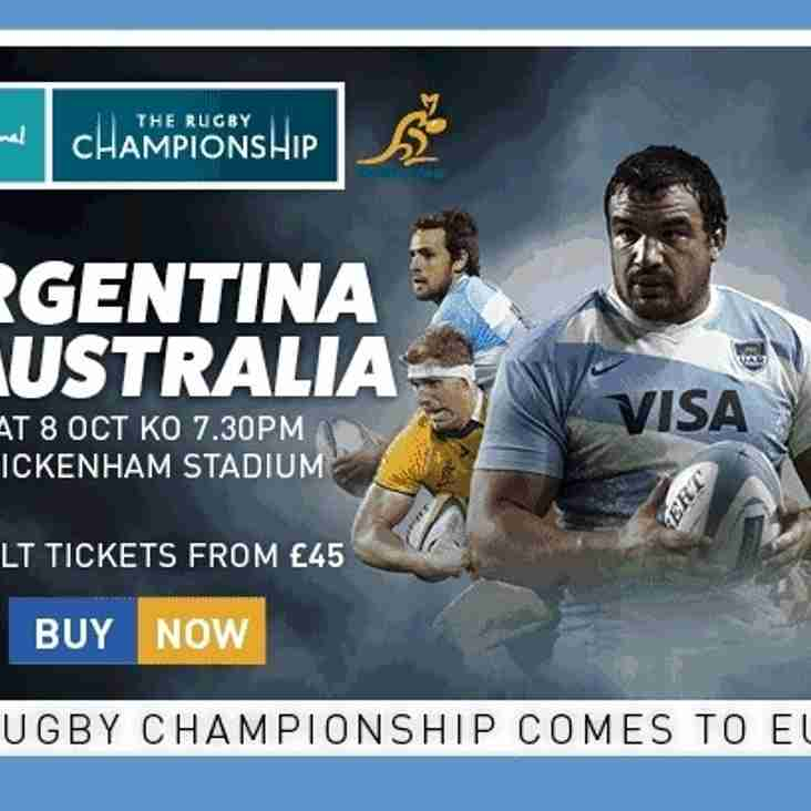 The Rugby Championship comes to Europe