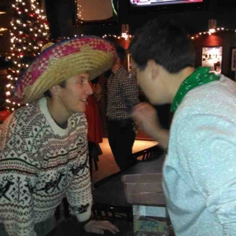 Christmas party with terrible sweaters 2012