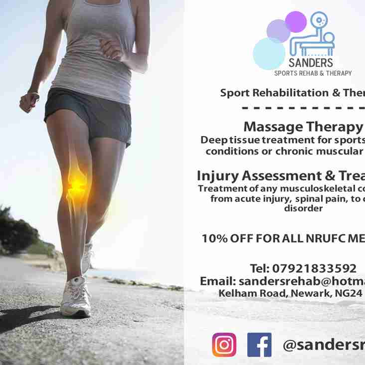 Sanders Sports Rehab & Therapy open for business at the Club