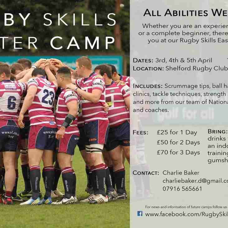 Easter Rugby Camp...