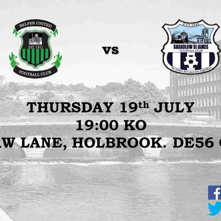 MATCH PREVIEW - SHARDLOW ST JAMES 19/07