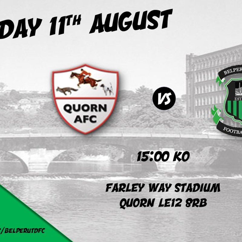 MATCH PREVIEW - FA CUP SPECIAL vs AFC Quorn