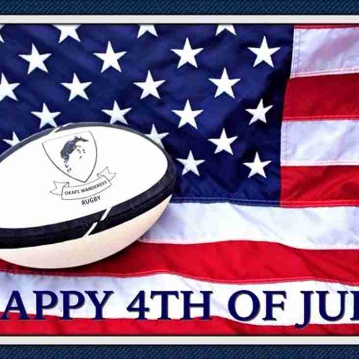 Okapi Wanderers Rugby FC wishes You a Happy 4th of July 2018