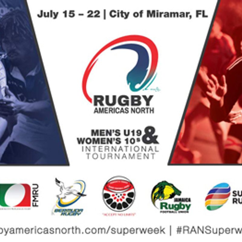 July 15th-22nd 2017 Rugby Americas North Tournament at Vizcaya Park in Miramar Florida