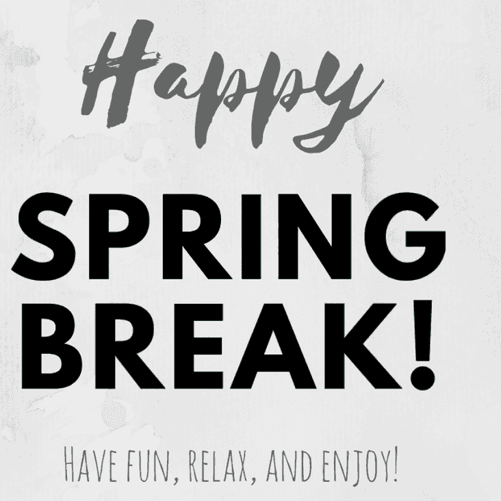 Spring break , no training from Monday March 26th 2018 until Friday March 30th 2018.