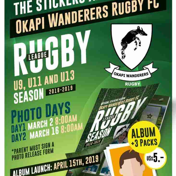 Saturday March 16th 2019 Okapi Wanderers Rugby Team Photo day, please read full article.