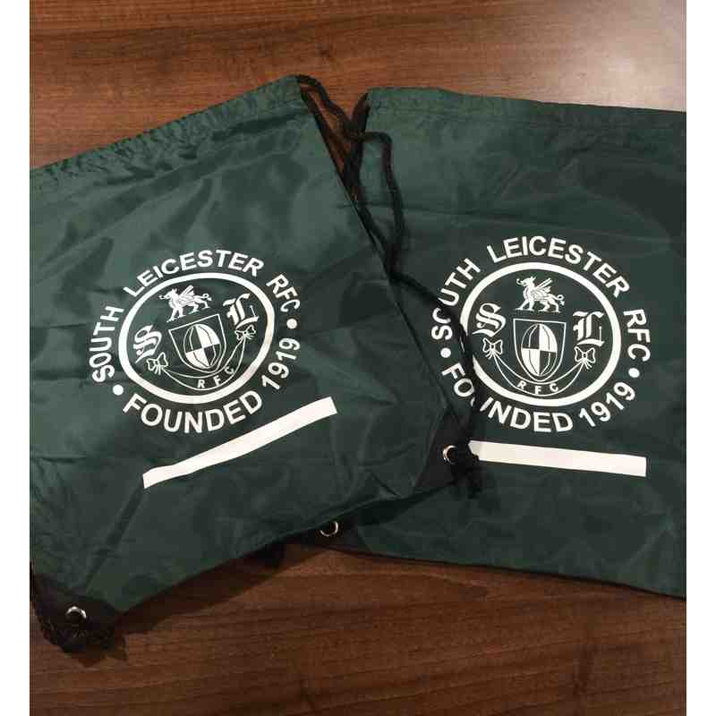 South Leicester RFC logo drawstring bags