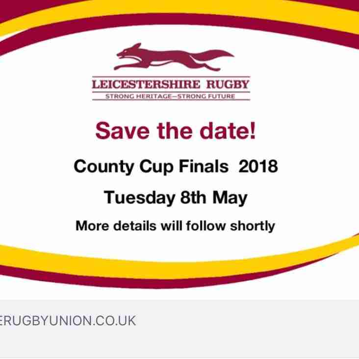 Leicestershire County Cup Final Date
