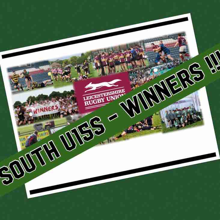 South u15s - Leicestershire County Plate Champions 2017-18 !!!!