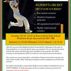 Beaconsfield Cricket Club - Women's training starts in January