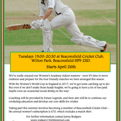 Beaconsfield Cricket Club - Women's Summer Training starts in April
