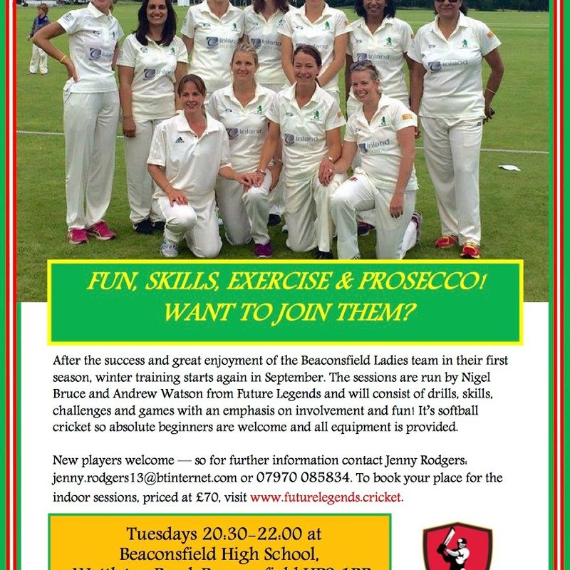BCC Women's Indoor Training Starts on 13th September
