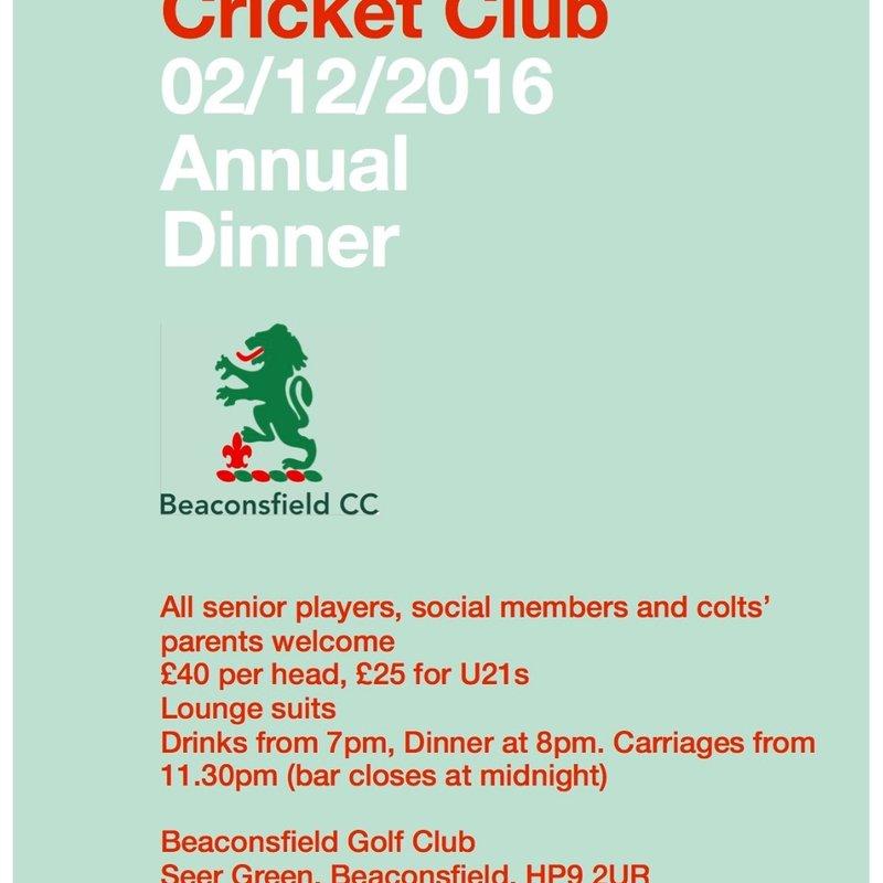 BCC Annual Dinner - 2nd December 2016