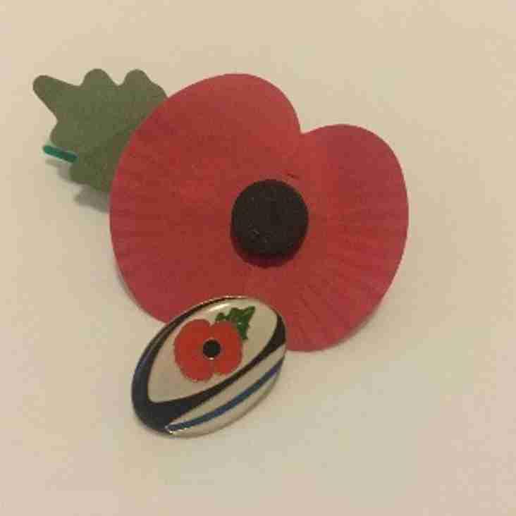 Act of Remembrance at Marlow RUFC, Sunday 11th November at 1100hrs
