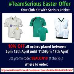 Serious Cricket - BCC kit suppliers: 10% off