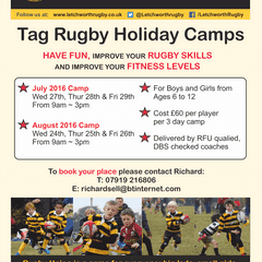 AUGUST TAG RUGBY SUMMER HOLIDAY CAMP