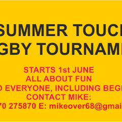 Summer Touch Rugby Tournament