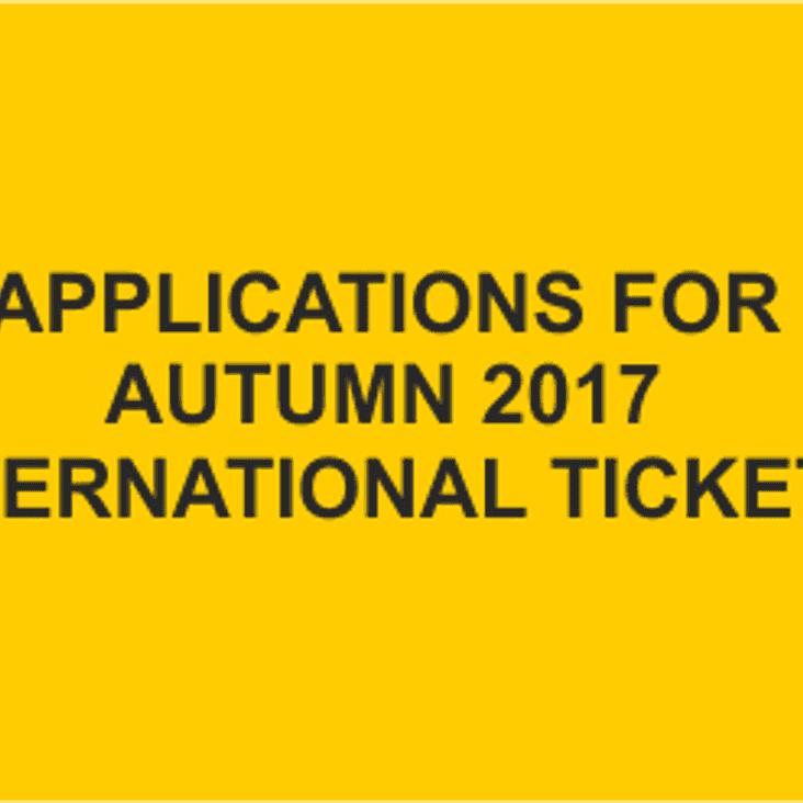 AUTUMN INTERNATIONALS 2017