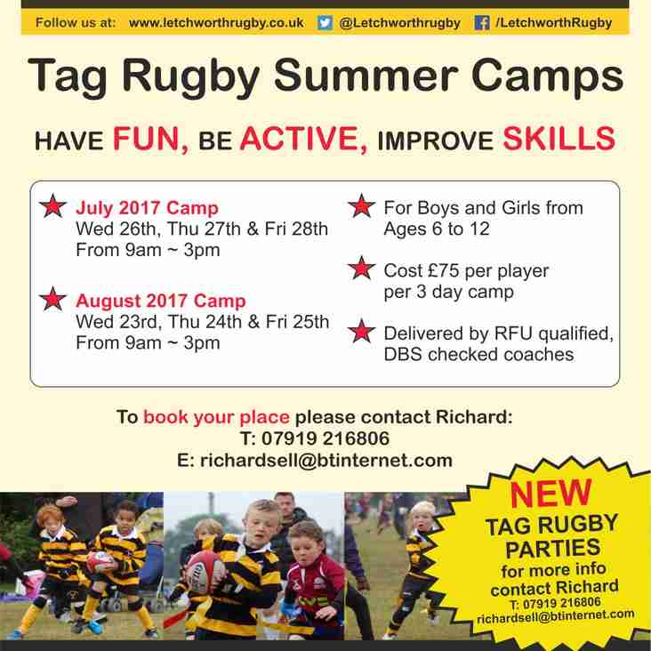 Tag Rugby Summer Camps