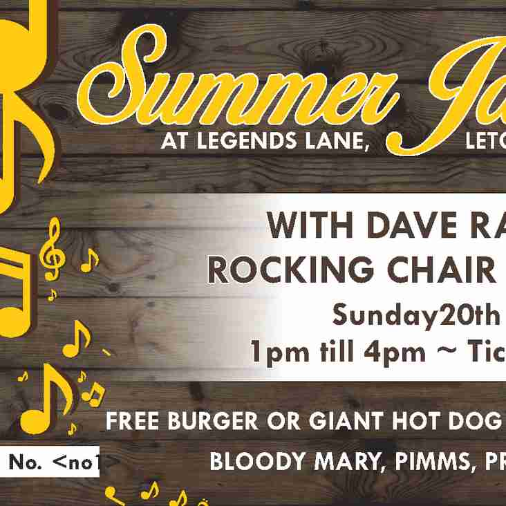 SUMMER JAZZ SUNDAY 20TH AUGUST 1PM – 4PM