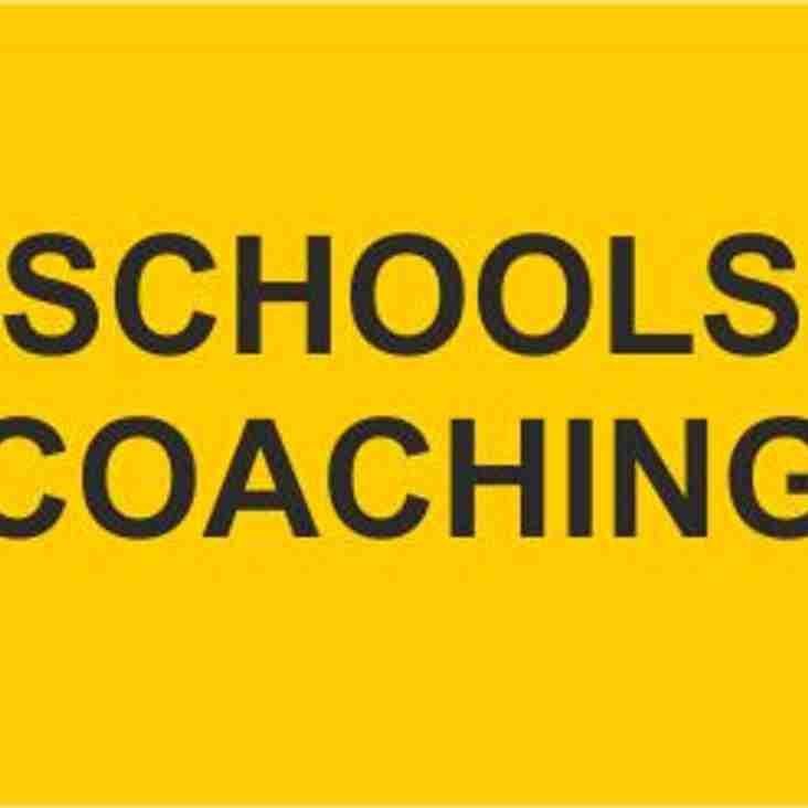 WANTED – COACHES FOR SCHOOLS