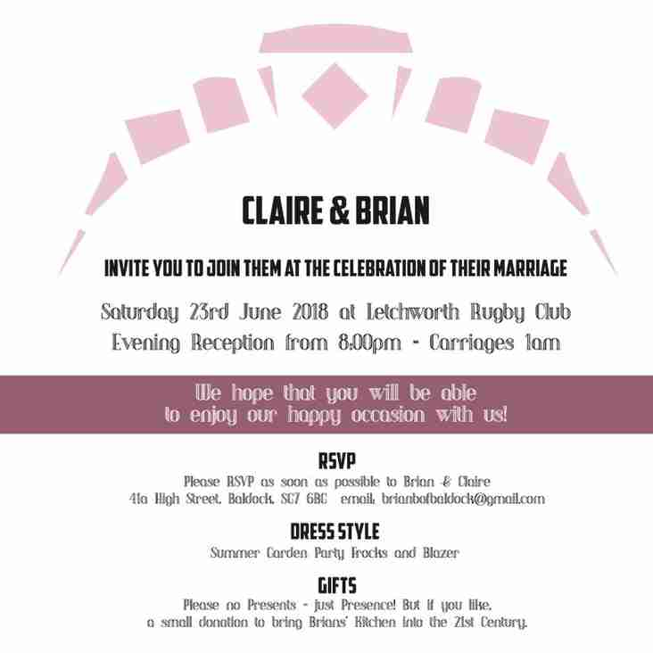 You're Invited To Brian & Claire's Evening Reception