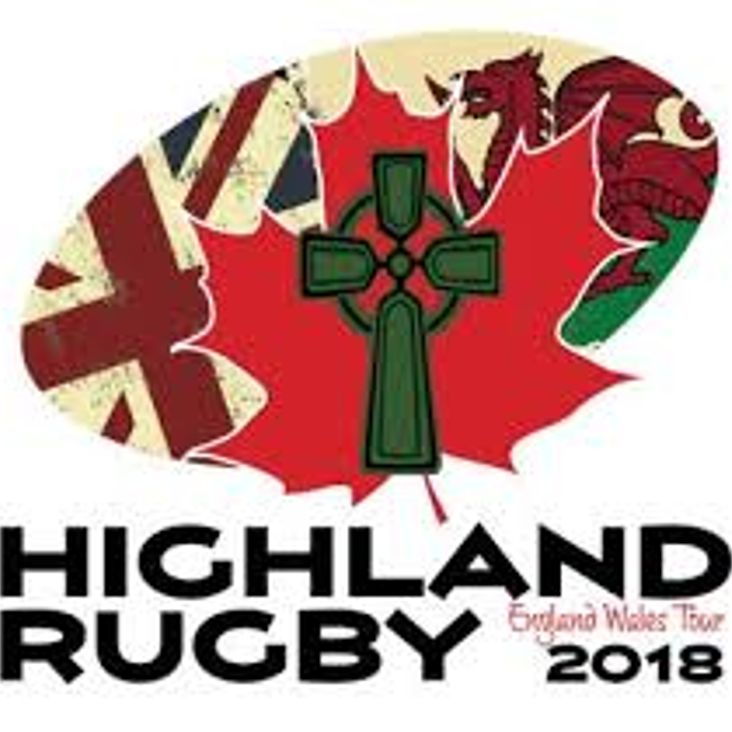 Fergus Highland Rugby Club visit the Davey Field<